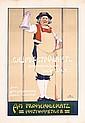 Original 1910s Munich Wine Restaurtant Poster Plakat