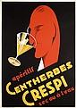 Original 1930s French Art Deco Poster CRESPI
