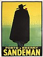 RARE Original 1920s Porto Sandeman Art Deco Poster