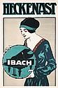 Original 1920s Piano Advertising Poster Plakat IBACH