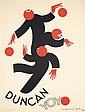 Original 1930s Art Deco DUNCAN YOYO Poster Raymond Gid