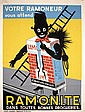 Funny Old 1950s/60s Belgium Black Chimney Sweep Poster