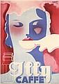 RARE Original 1930s Italian ILLY COFFE Poster XANTI