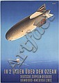 RARE Original 1930s HAPAG ZEPPELIN Poster ANTON Art, Ottomar Anton, Click for value