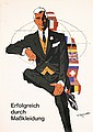 ORIGINAL 1960s Clothing Poster Gruau-Style FISCHBACH