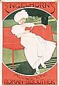 Old Original 1890s Art Nouveau Book Advertising Poster