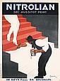 Beautiful Original 1920s Cappiello Nitrolian Poster