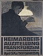 Old Original 1900s German Hommaker Exhibit Poster Plaka