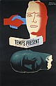 Original 1940s Art Deco Newspaper Poster PAUL COLIN