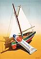 RARE Original 1940s LEUPIN Swiss Design Poster Bi-oro