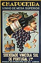 Original Vintage 1930s Chapuceira Portugese Wine Poster