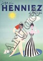Original 1951 DONALD BRUN Swiss Art Deco Henniez Poster