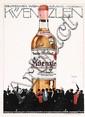 Original 1920s LUDWIG HOHLWEIN Liquor Poster Kunzlen