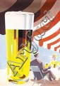 Original 1950s Swiss Beer Poster PAUL GUSSET Art