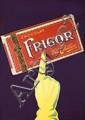 RARE 1940s Swiss Design Frigor Chocolate Poster Plakat