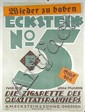 RARE Original 1920s German Typography Cigarette Poster