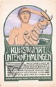 Old Original 1900s Traditional German Art Poster Plakat
