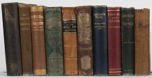 [Crime] Shelf of 10 Nineteenth Century Books on Crime and Fraud. Including Twenty-Five Years of Detective Life (1895) by Caminada; Frauds of America (1896) by Redmond; Shams; Or, Uncle Ben's Experience with Hypocrites (1889) by Morgan; Beyond the Mississippi (1867) by Richardson; Underground; or, Life Below the Surface (1874) by Knox; Crooks & Crime (n.d.) by Ferrier; Sunlight and Shadow (1881) by Gough; Knots Untied (1871) by McWatters; Secrets of the Great City (1868); and Langdon Moore: His Own Story of His Eventful Life (1893). Publisher's cloth, some pictorial, embossed and stamped in gilt. Many illustrated with engravings. Thick 8vos. Some worn cloth and weak bindings, but generally very good copies.