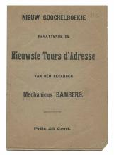 Bamberg, David L. Nieuw Goochelboekje. Dutch, (1861). Eight page booklet (u