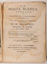 Decremps, Henri. La Magia Blanca Svelata. Messina: Grande Ospedale, 1793. O