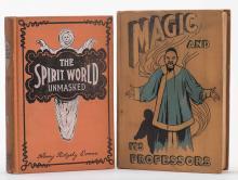 Evans, Henry Ridgely. Lot of Two Antiquarian Magic Books. Including Spirit