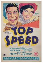 Top Speed. First National and Vitaphone, 1930. One-sheet (27 x 41