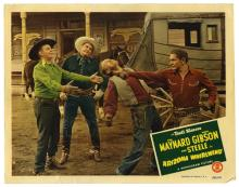 [Miscellaneous 쳌 Western] Collection of 16 Vintage Lobby Cards. Includes Riders of the Death Valley (1941), Wild West Days (1937), The Right of the Strongest (1924), and others. All 11 x 14