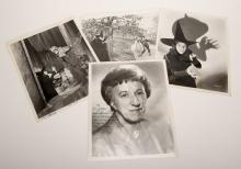 Hamilton, Margaret. Four Photos of The Wicked Witch in The Wizard of Oz, One Signed. Circa 1939 and 1960. Three 8 x 10