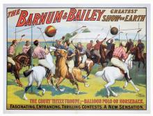 Barnum & Bailey/Court Tietze Troupe. Cincinnati: Strobridge Litho, 1909. One-sheet (38 3/8 x 29