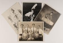 Collection of Circus Postcards. 1910s  1960s. Twenty-two different circus postcards, including some real photos, linens, and chromes. Very good overall.