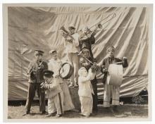 Kelty, Edward (American, 1888  1967). Little People Circus Band Photo. New York: Century Flashlight Photographers, ca. 1920s. Original 8 x 10