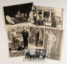 Sideshow Photos of Tex Madsen, Dolletta, Anna John Budd, and Others. 1920s  1940s. Eight photos of various sizes depicting various 'freaks and oddities,