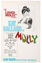 Hirschfeld, Al. Molly. 1973. Window card (14 x 22