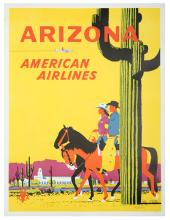 Ludekens, Fred. American Airlines 쳌 Arizona poster. 1950. One-sheet (40 x 25
