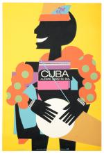 Cuba Alegre Como Su Sol. Tourism Poster. NITI (National Institute of the Tourism Industry), 1974. One-sheet (45 _ x 25