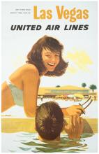 Galli, Stan. United Airlines 쳌 Las Vegas. 1957. One-sheet (40 x 25