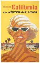 Galli, Stan. United Airlines 쳌 Southern California. 1957. One sheet (40 x 25