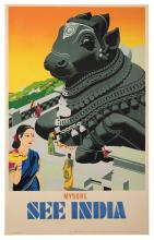 Mysore See India. Madras, India, ca. 1950. One-sheet (38 _ x 25