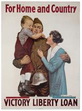 Orr, Alfred Everitt. For Home and Country. American Lithographic Co., NY, ca. 1918. One-sheet (29 x 40