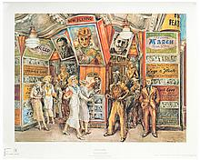 Marsh, Reginald (American, 1898  1954). Twenty Cent Movie. New York: Graphic Arts Unlimited, 1960s. Superb giclŽe (30 x 24