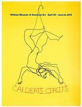 Calder, Alexander (American, 1898  1976). Calder's Circus. 1972. Silk-screened poster (27 x 36