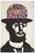 Max, Peter. Toulouse Lautrec. 1967. Half-sheet poster (36 x 24