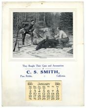 502. C. S. Smith. Gun and Ammunition Illustrated Calendar. 1910. Complete calendar (14 x 11