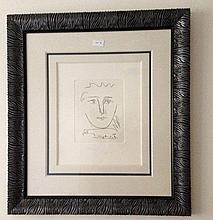 Pablo Picasso etching, L'age de Soleil, signed in