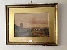Water Colour Country Scene Signed & Dated Lower