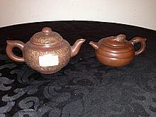 Pair Of Chinese Teapots Marks To Base