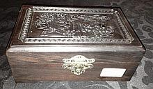 Chinese Zitan Jewellery Box