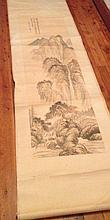 Chinese Scroll Mountain Scene