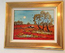 Nick Petali Oil On Board, The Homestead, Signed H