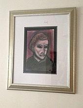 Robert Dickerson Pastel The Face H34 cm x  W23cm